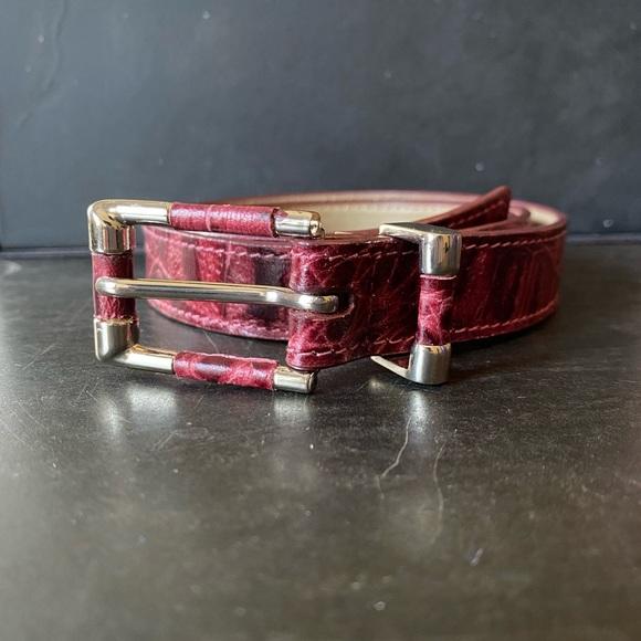 "Genuine Leather Red Talbots Belt 42"""